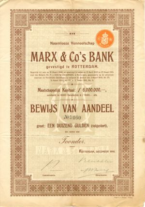Marx & Co's Bank