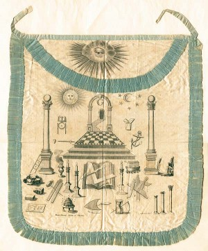Masonic Silk Apron - SOLD