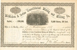 McMahon & Irvine Consolidated Mining & Milling Co