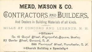 Building Contractors Advertisement Card