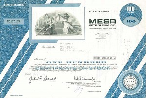 Mesa Petroleum Company - Stock Certificate - SOLD