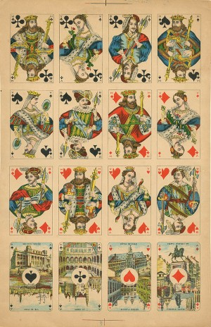 Uncut Sheet of 16 Playing Cards