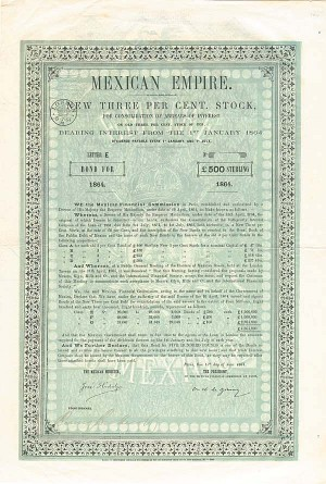 """Maximilian"" £500 1864 - Mexican Empire"