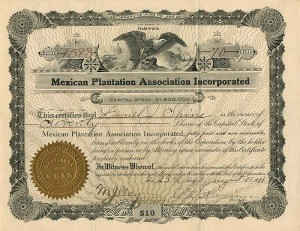 Mexican Plantation Association Incorporated - SOLD