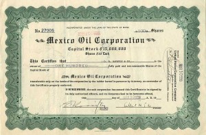 Mexico Oil Corporation - SOLD