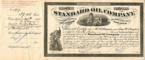 Standard Oil Company signed by M.H. Hanna on separate card
