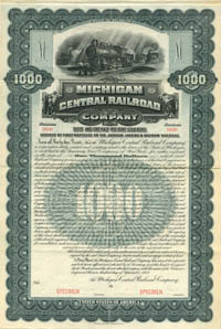 Michigan Central Railroad Company - $1,000