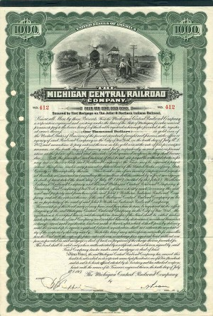 Michigan Central Railroad Company - $1,000 Bond