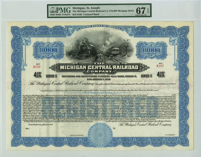 Michigan Central Railroad Company $10,000 Bond