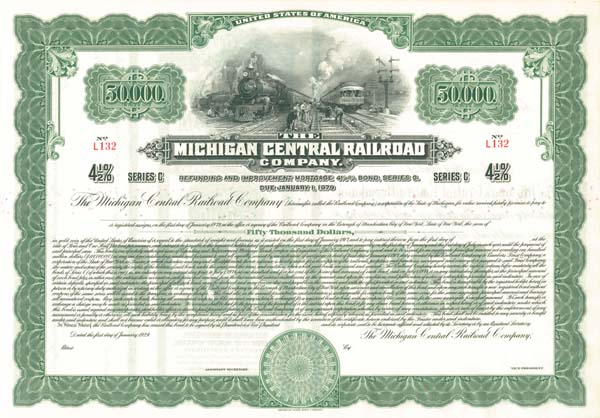 Michigan Central Railroad - Bond