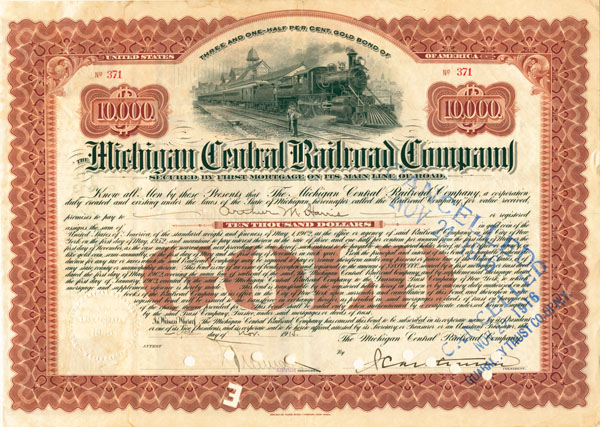 Michigan Central Railroad Company - Bond