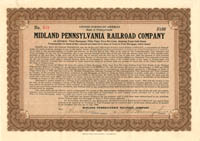 Midland Pennsylvania Railroad Company - SOLD