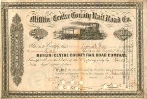 Mifflin and Centre County Rail Road Co.