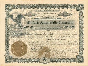 Collectible Automotive Stocks Automotive Stock Certificates