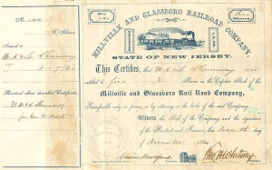 Millville and Glassboro Railroad Comapny