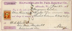 Milwaukee and St. Paul Railway Co. - SOLD