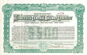 Minnesota Central Railway - SOLD