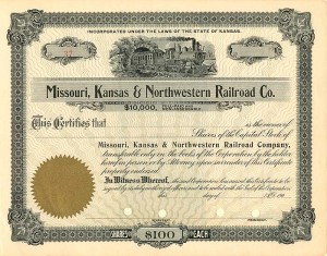 Missouri, Kansas & Northwestern Railroad Co.