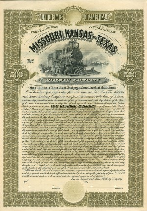 Missouri, Kansas and Texas Railway Company - SOLD