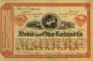 Mobile and Ohio Railroad Co - SOLD