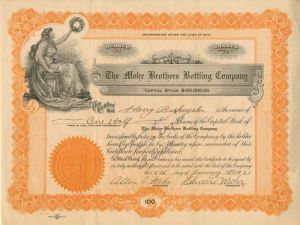 Mohr Brothers Bottling Company - SOLD