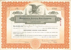 Montgomery Country Club Company - SOLD
