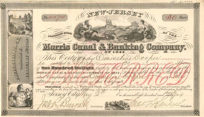 Morris Canal & Banking Company - SOLD