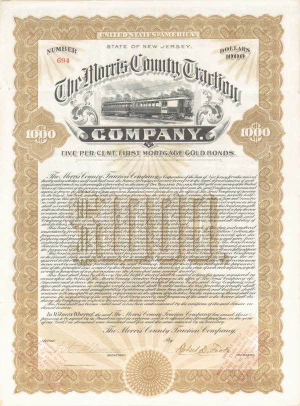 Morris County Traction Company - SOLD