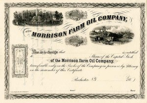 "Morrison Farm Oil Company - Genuine ERROR in Pennsylvania at the Top ""Missing N"""