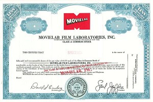 Movielab Film Laboratories - SOLD