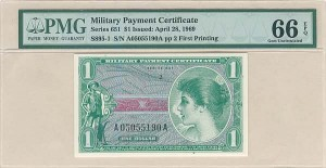 Military Payment Ceritificate   SOLD