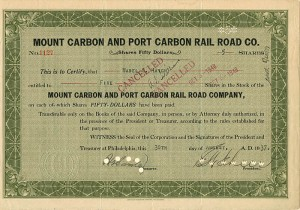 Mount Carbon and Port Carbon Rail Road Co.
