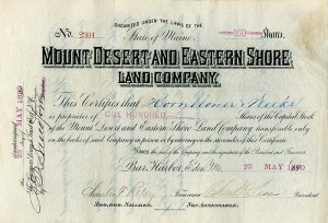 Mount Desert and Eastern Shore Land Company