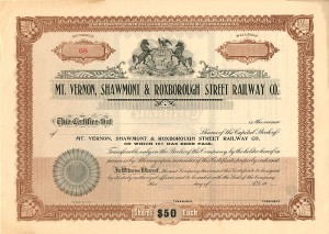 Mt. Vernon, Shawmont & Roxborough Street Railway Co.
