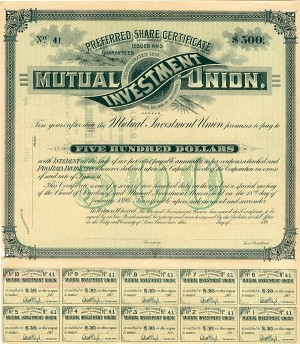 Mutual Investment Union - Preferred Share Certificate