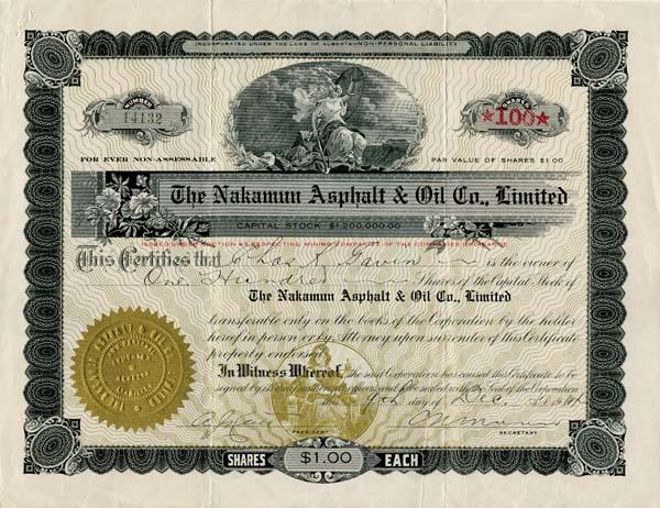 Nakamun Asphalt and Oil Co., Limited
