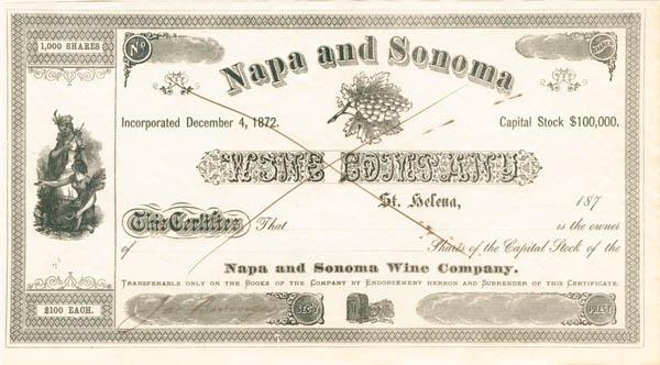 Jacob Beringer Signed Napa and Sonoma Wine Company