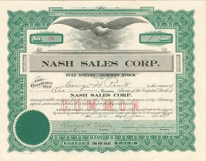 Nash Sales Corporation - SOLD