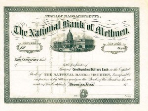 National Bank of Methuen - SOLD