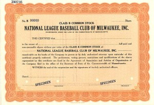 National League Baseball Club of Milwaukee, Inc.