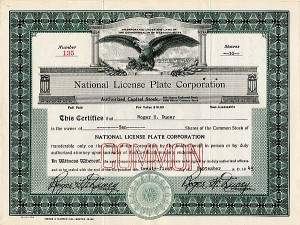 National License Plate Corporation