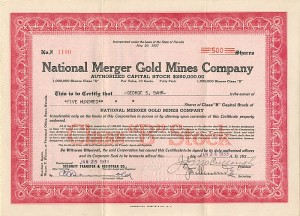 National Merger Gold Mines Company