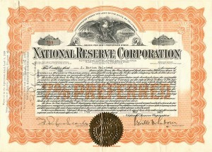 National Reserve Corporation