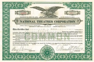 National Theatres Corporation - Stock Certificate
