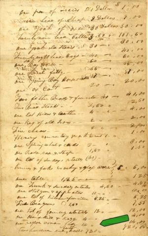 One Negro Women Judy - Slavery Document - SOLD
