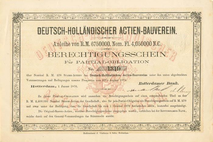 Deutsch-Hollandischer Actien-Bauverein