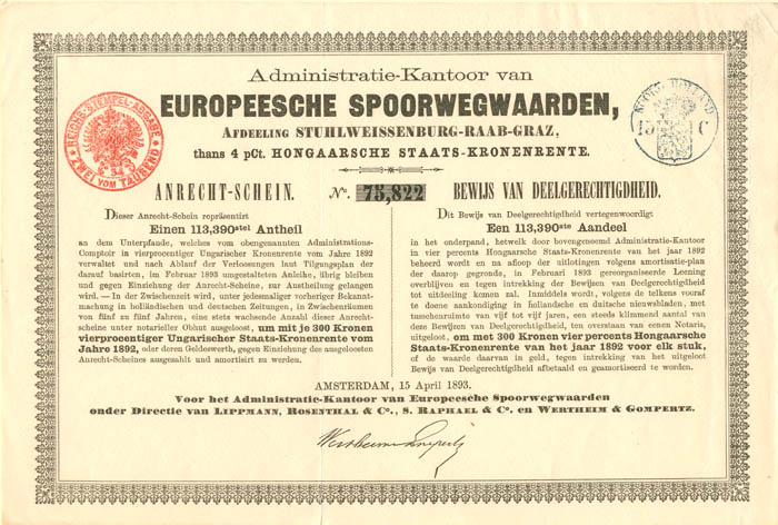Administratie-Kantoor van Europeesche Spoorwegwaarden