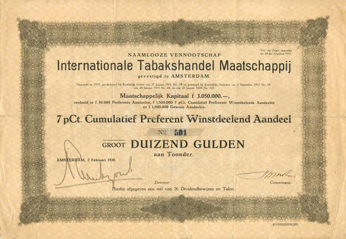 Internationale Tabakshandel Maatschappij