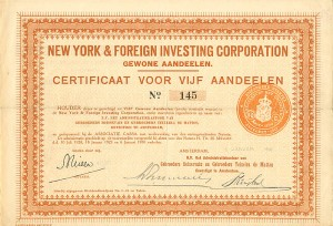 New York & Foreign Investing Corporation