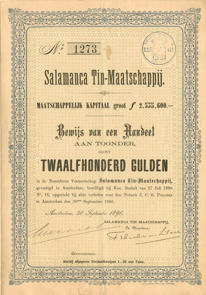 Salamanca Tin-Maatschappij